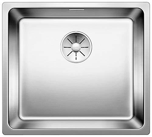 BLANCO Andano 450-IF, Küchenspüle für normalen und flächenbündigen Einbau, Einbauspüle, mit InFino-Ablaufsystem, Edelstahl Seidenglanz; 522961