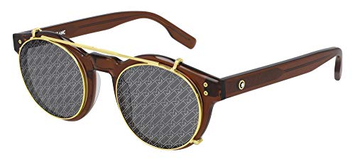 Mont Blanc Gafas de Sol MB0123S Brown/Grey 49/22/155 hombre
