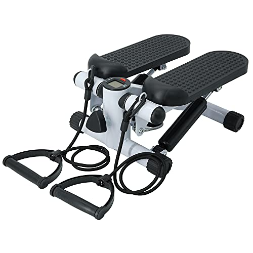 Tanness Fitness Step Swing Stepper Machine with Training Tapes Up-Down Stepper for Beginners and Advanced Users with Mini LCD Display Twist Stepper Exercise