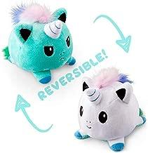 TeeTurtle Reversible Unicorn Mini - Light Blue/White Plush Toys