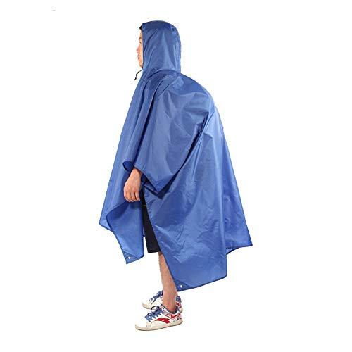 Tres en uno Mochila multiuso Impermeable Impermeable Poncho de lluvia militar Poncho para caminatas/Camping/Eventos deportivos y aire libre