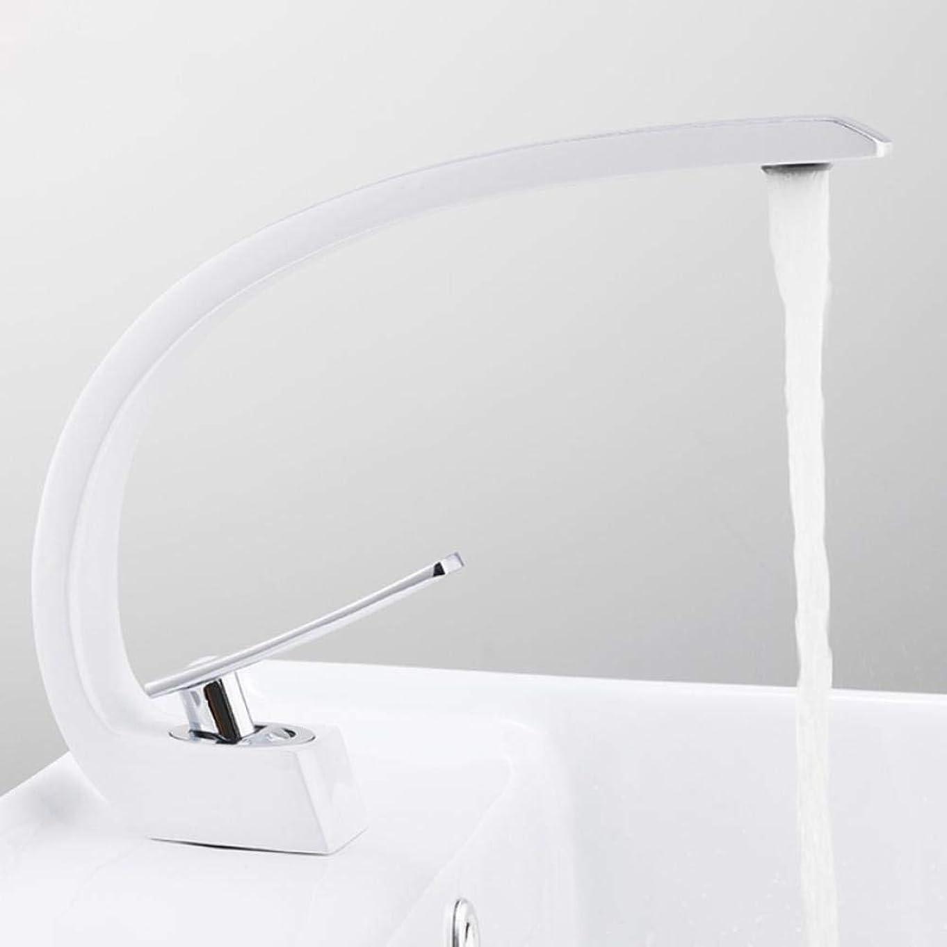 征服治す息子浴室のための流域水栓現代浴室のミキサーのタップ真鍮洗面の蛇口シングルハンドル単穴は、エレガントクレーン,操作簡単