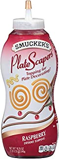 Smucker's 12 Pack Plate Scapers Dessert Topping, Raspberry, 19.5 Ounce (Pack of 12)