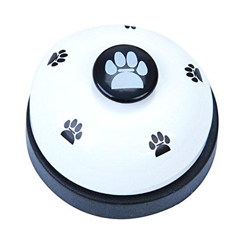 Naisicatar Haustier-Trainingsglocken für Hunde, interaktives Spielzeug für Welpen, Essen, Klingeln zum Lernen von Sauberkeit und zur Kommunikation, Weiß, 1 Stück