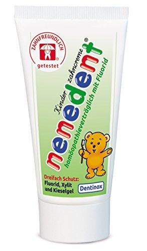 Nenedent Kinderzahncreme Homapathievertraglich mit Fluorid, 6er Pack(6 x 50 ml)
