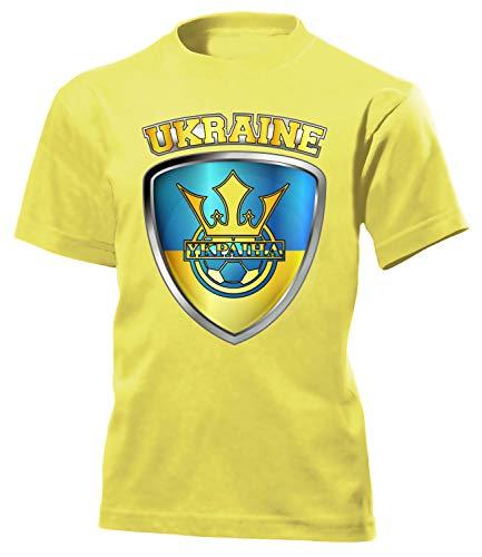 Ukraine ??????? Fan t Shirt Artikel 4679 Fuss Ball Kinder Kids Jungen Mädchen Unisex EM 2020 WM 2022 Trikot Look Flagge World Cup Jersey 116