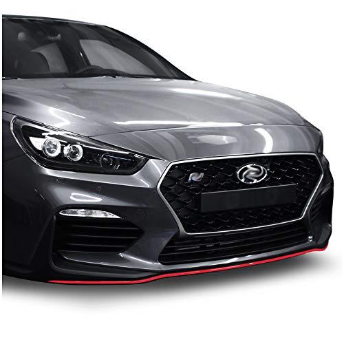 Frontschwert Designline Folie Dekor für Fahrzeug Front Auto Aufkleber selbstklebend Kfz Zubehör Streifen Zierleiste Passgenau D017 (Rot)