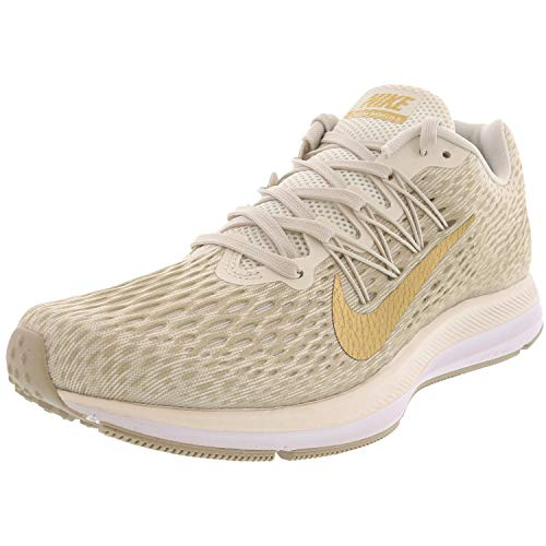 Nike Women's Zoom Winflo 5 Phantom/Metallic Gold String Ankle-High Mesh Running - 8.5M
