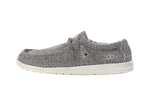 Hey Dude Men's Wally Linen Iron, Size 11