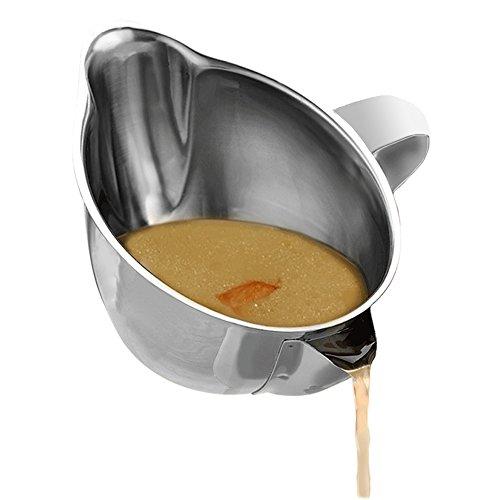 EgoEra® SUS304 Edelstahl Fettabscheider Kanne/ölabscheider/Suppe Sieb Soße Schüssel mit Griff