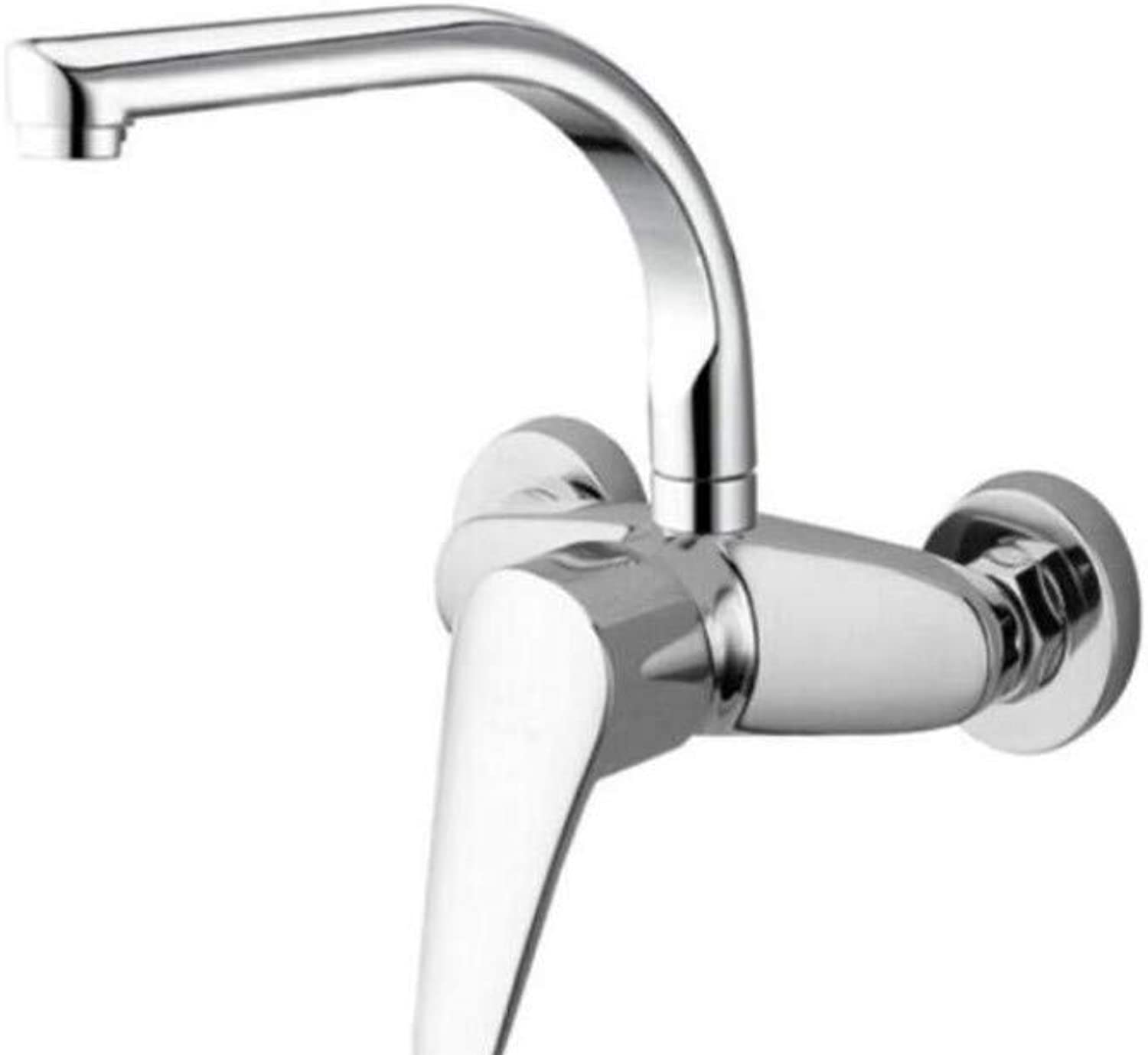 Taps Kitchen Sinktaps Mixer Swivel Faucet Sink Copper Wall Kitchen Faucet Cold and Hot Single