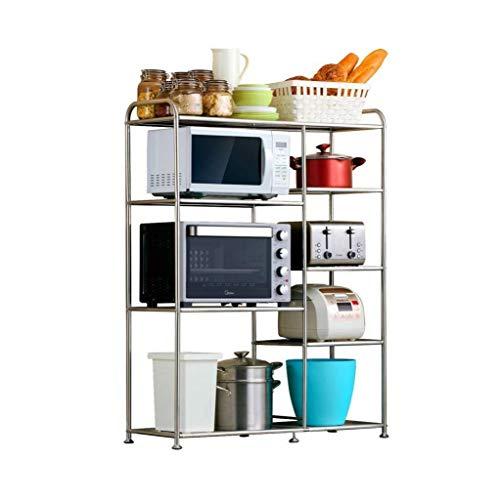 Yxsd Estante de cocina Horno De Microondas Rack De Cocina Rack De Almacenamiento De Pie Rack De Almacenamiento De Múltiples Capas De Pie