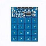 YUIO TTP229 2.4V-5.5V Interruptor Capacitivo Digital de 16 Canales Sensor táctil Teclado Módulo IC para Placa Arduino Herramienta electrónica de Bricolaje (Azul)