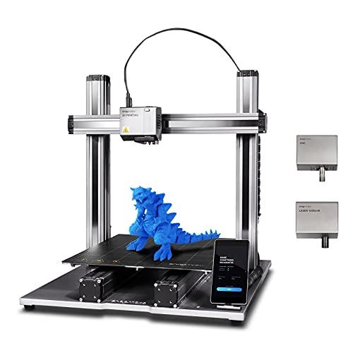 Snapmaker 3D Printer, 2.0 Modular 3-in-1 3D Printer with 3D Printing/Laser Engraving/CNC Carving,...