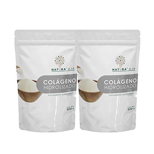 Colágeno Hidrolizado en Polvo - 2 Pack de 500g c/u (1 kilo) - 100% natural y puro, sin colorantes, azúcares añadidos, ni edulcorantes.