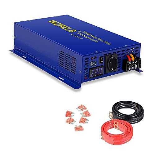 2000W Spannungswandler 12V 230V Reiner Sinus Welle Spannungswandler Wechselrichter DC 12V auf AC 230V Inverter für Wohnmobile, Autos, Camping, Reisen