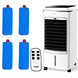 MYLEK Portable Air Cooler Evaporative Mobile With Remote Control, LED, Timer, Air Purifier