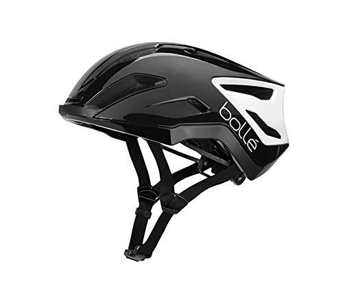 Bollé Exo - Casco de ciclismo (55-59 cm), color negro y gris