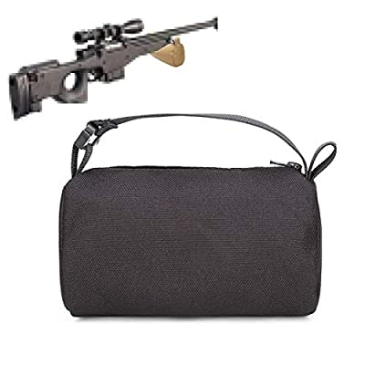 LIVIQILY Tactical Gun Rest Bag Bracket Sandbag Support Without Sand Target Shooting Stand for Gun Hunting Accessories (Black)