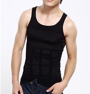 全米TV通販で大話題 Slim N Lift Men メンズ補正下着 タンクトップ シャツ Tシャツ 2カラー ブラック 黒 ホワイト 白 ダイエット 下着 メンズ インナー BLACK(黒) XLサイズ