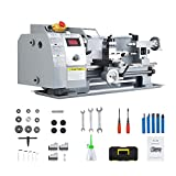 CO-Z 8x14 Mini Lathe Machine with 600W Metal Gear Brushed Motor   50-2250 rpm Wood Metal Turning Cutting Drilling Benchtop Metal Lathe with Accessories for Home and Shop DIY Woodworking and Milling