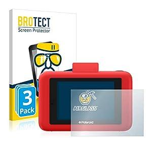 BROTECT Protector Pantalla Cristal Compatible con Polaroid Snap Touch Protector Pantalla Vidrio (3 Unidades) - Dureza Extrema, Anti-Huellas, AirGlass