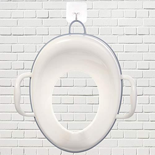 Bisoo - Adaptador WC Niños - Reductor Vater Bebé - Asiento Inodoro Seguro y Cómodo - Transición del orinal infantil al baño adulto - Compacto y Portátil - Incluye gancho (azul)