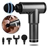 ACOOLOO Massage Gun Deep Tissue,Handheld Percussion Massage Gun for Athletes,Quiet,Portable Body Muscle Massager for Pain Relief with 4 Heads & 6 Speeds,Up to 4H Battery Life