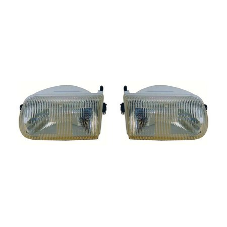 Fits Mazda Pickup 1994-1997 Headlight Assembly Pair Driver and Passenger Side MA2502110, MA2503110