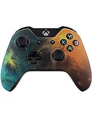 eXtremeRate® främre höljesskal framsida för standard Xbox One-kontroll (passar både med 3,5 mm port och utan 3,5 mm port), guld (guld star Universe)