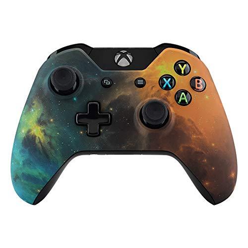 eXtremeRate Case für Xbox One Controller,Gehäuse Hülle Schale Case Faceplate Zubehör Ersatzteile für Standard Xbox One Controller Modell 1537/1697(Gold Star Universum)