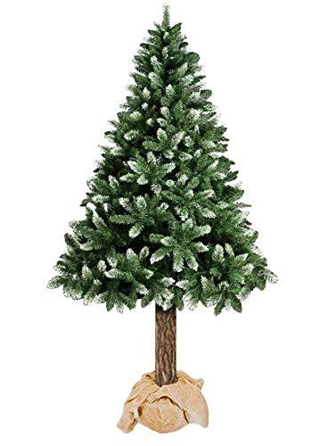 123home24.com Weihnachtsbaum 160 180 Kiefer Christbaum künstlich im Topf Baumstamm aus Echtem Holz Pine (180 cm)