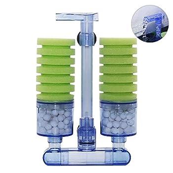 UPETTOOLS Aquarium Biochemical Sponge Filter Ultra Quite Aquarium Air Pump Double Head Bio Sponge Fish Tank Foam Filter