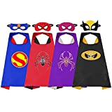 4 pièces capes de superhéros pour enfants, costume de fête de super-héros ensemble de...