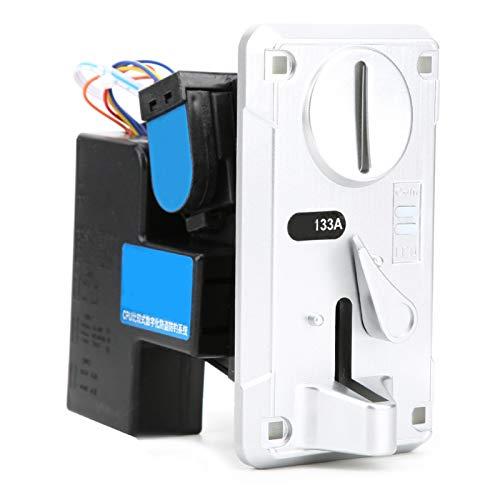Okuyonic Selector mecánico de Monedas, Plateado, Amarillo, acepta Monedas, con indicación LED, -15 ℃ ~ + 15 ℃, DC + 12V ± 10%, para máquinas expendedoras de cepillos de Dientes(Silver)