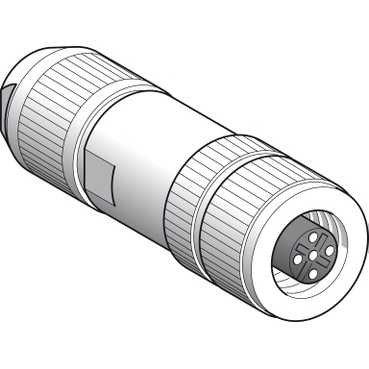 Schneider XZCC12FDB50R Buchse, M12, 5-poliert, Anschluss geschirmt gerade