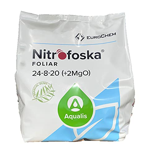Nitrofoska Abono foliar 24-08-20. 5 Kilos. Primavera y brotacion. Fertilizante nitrogenado.Abono...
