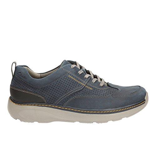 Clarks Herren Charton Mix Derby, Blau (Navy Leather), 46 EU