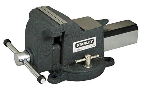 Stanley Maxsteel bankschroef lichte uitvoering, 85 mm uitbelasting, 100 mm spanwijdte, 1110 kg spankracht 1800kg grijs