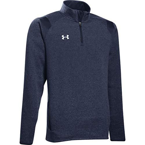 Under Armour Men's UA Hustle Fleece 1/4 Zip (XX-Large, Midnight Navy-White)