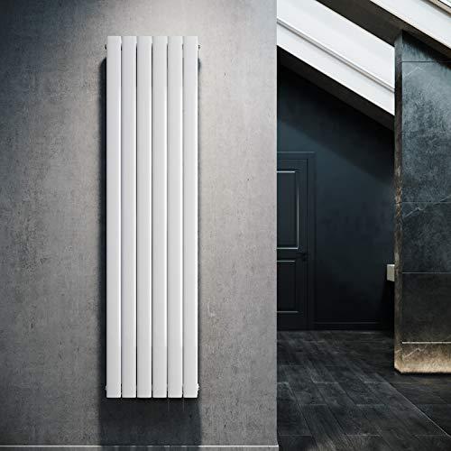 Design Flach Heizkörper 1800x462mm Weiß Paneelheizkörper Vertikal Mittelanschluss Doppellagig