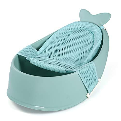 HHYK Babybadewanne Kinderbadewanne Netz Beutel Neugeborene Kinder Wohnen Großen Badebottich-Can Sit Liegen Badebecken Kinderpool (Color : Green)