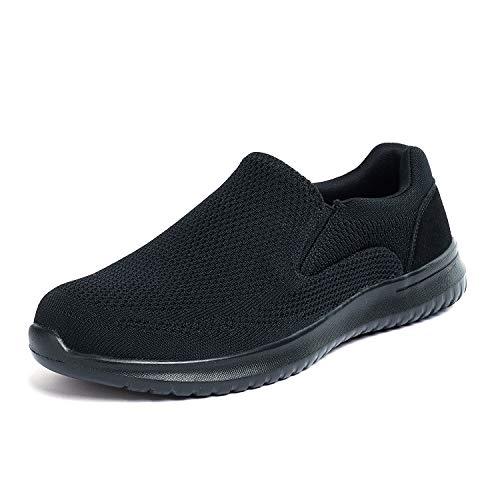 Bruno Marc Men's Slip On Loafer Shoes Mesh Walking Sneakers Walk_Easy_01 Black Size 12 M US