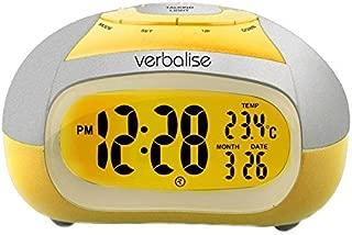 Verbalise Talking Alarm Clock With Temperature, Female Voice