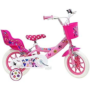 Bici Minie - Bicicleta Infantil para niña, Multicolor, 12 Pulgadas ...