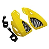 Pestelle Protector de Mano para Motocicleta Protector de Mano Protector una Prueba de Viento Moto Motocross o la MayoríA de Las Motocicletas Bicicletas Choppers Amarillo