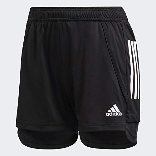 adidas Womens Con20 Tr SHO W Shorts, Black/White, M/L