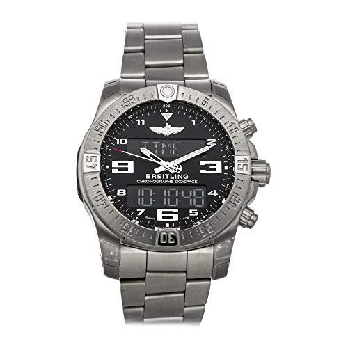 Breitling Exospace B55 Herren-Armbanduhr, schwarzes Zifferblatt, EB5510H11B1E1, zertifiziert