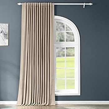HPD Half Price Drapes BOCH-151304-96-DW Extrawide Blackout Room Darkening Curtain  1 Panel  100 X 96 Classic Taupe