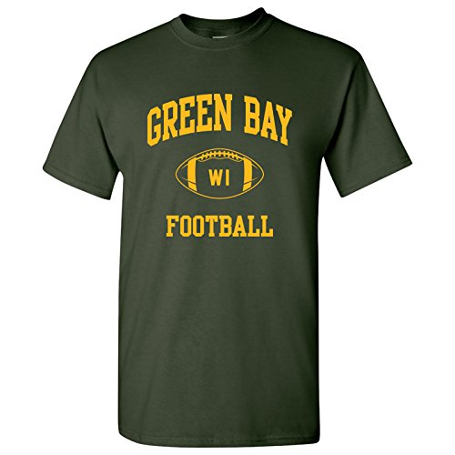 Green Bay Classic Football Arch Basic Cotton T-Shirt - X-Large - Forest